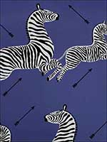 Zebras Denim Wallpaper WP81388M008 by Scalamandre Wallpaper for sale at Wallpapers To Go