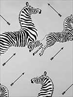 Zebras Silver Wallpaper WP81388M010 by Scalamandre Wallpaper for sale at Wallpapers To Go