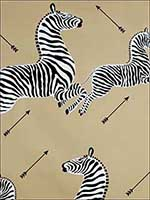 Zebras Gold Wallpaper WP81388M011 by Scalamandre Wallpaper for sale at Wallpapers To Go