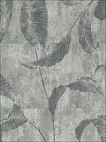 Leaf Trail Faux Striped Textured Wallpaper