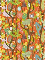 Melodi Orange Folk Wallpaper WV1755 by BorasTapeter Wallpaper for sale at Wallpapers To Go
