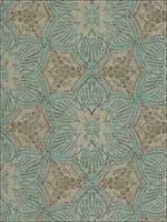 Seychelles Teal Medallion Wallpaper 376052 by Eijffinger Wallpaper for sale at Wallpapers To Go