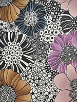 Anemones Pearl Black Multi Wallpaper MI10001 by York Designer Series Wallpaper for sale at Wallpapers To Go