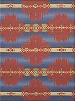 Round Valley Blanket Red Earth Fabric LCF66777F by Ralph Lauren Fabrics for sale at Wallpapers To Go