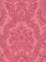 Grillig Red Damask Wallpaper 375044 by Eijffinger Wallpaper for sale at Wallpapers To Go