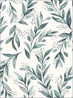 Olive Branch Weekends Teal Wallpaper ME1536 by York Wallpaper for sale at Wallpapers To Go