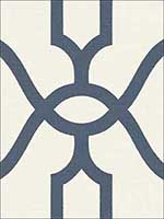Woven Trellis Federal Blue on White Wallpaper ME1552 by York Wallpaper for sale at Wallpapers To Go