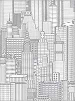 Aston Silver City Wallpaper 2773795103 by Advantage Wallpaper for sale at Wallpapers To Go