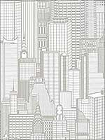 Aston Light Grey City Wallpaper 2773795127 by Advantage Wallpaper for sale at Wallpapers To Go