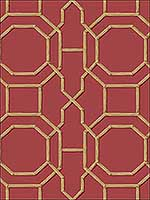 Rumi Red Trellis Wallpaper 276621739 by Brewster Wallpaper for sale at Wallpapers To Go