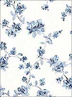 Cyrus Blue Floral Wallpaper 311524481 by Chesapeake Wallpaper for sale at Wallpapers To Go