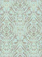 Nomad Damask Peel and Stick Wallpaper NU2079 by Brewster Wallpaper for sale at Wallpapers To Go