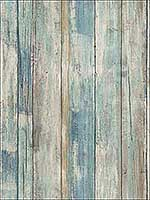 Blue Distressed Wood Peel and Stick Wallpaper RMK9052WP by York Wallpaper for sale at Wallpapers To Go