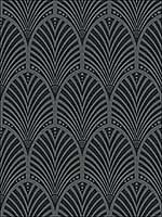 Gatsby Charcoal Wallpaper 65250 by Sancar Wallpaper for sale at Wallpapers To Go