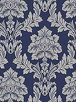 Salvador Blue Wallpaper 65351 by Sancar Wallpaper for sale at Wallpapers To Go