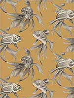 Koi Gold Wallpaper SO2402 by Candice Olson Wallpaper for sale at Wallpapers To Go