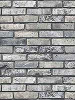 Painted Grey Brick Wallpaper FD23288 by Brewster Wallpaper for sale at Wallpapers To Go