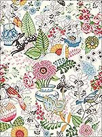 Whimsy Multicolor Fauna Wallpaper 282112801 by A Street Prints Wallpaper for sale at Wallpapers To Go