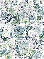 Whimsy Blue Fauna Wallpaper 282112804 by A Street Prints Wallpaper for sale at Wallpapers To Go