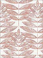 Akira Coral Leaf Wallpaper 282125103 by A Street Prints Wallpaper for sale at Wallpapers To Go