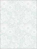 Ana Light Blue Floral Wallpaper 282125110 by A Street Prints Wallpaper for sale at Wallpapers To Go