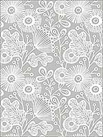 Ana Grey Floral Wallpaper 282125111 by A Street Prints Wallpaper for sale at Wallpapers To Go
