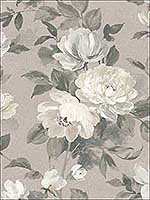 Peony Light Grey Floral Wallpaper 28277225 by BorasTapeter Wallpaper for sale at Wallpapers To Go