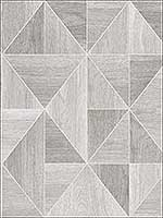Simpson Light Grey Geometric Wood Wallpaper 281424960 by Advantage Wallpaper for sale at Wallpapers To Go