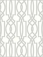 Gray Deco Lattice Wallpaper NW31508 by Nextwall Wallpaper for sale at Wallpapers To Go