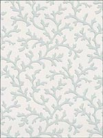 Coral Vine Mist Wallpaper 5004413 by Schumacher Wallpaper for sale at Wallpapers To Go