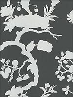 Shantung Silhouette Print Smoke Wallpaper 5005151 by Schumacher Wallpaper for sale at Wallpapers To Go