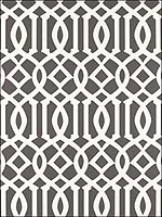 Imperial Trellis Charcoal Wallpaper 5003361 by Schumacher Wallpaper for sale at Wallpapers To Go