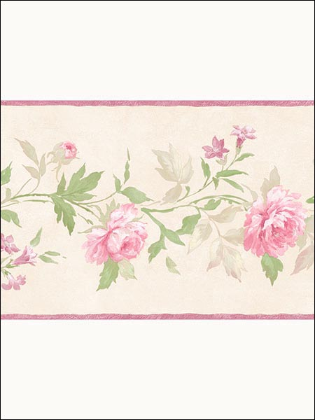 Floral Border PP79452 by Norwall Wallpaper for sale at Wallpapers To Go