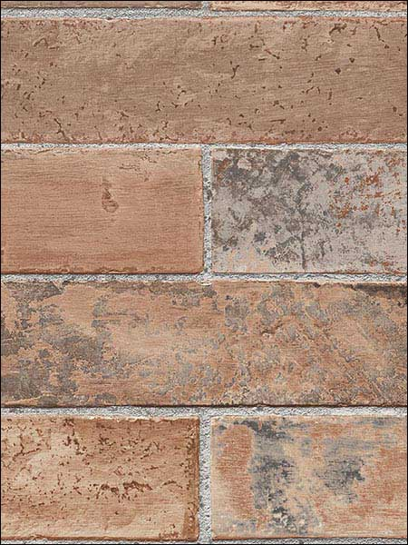 Brick Wallpaper LL29534 by Norwall Wallpaper for sale at Wallpapers To Go
