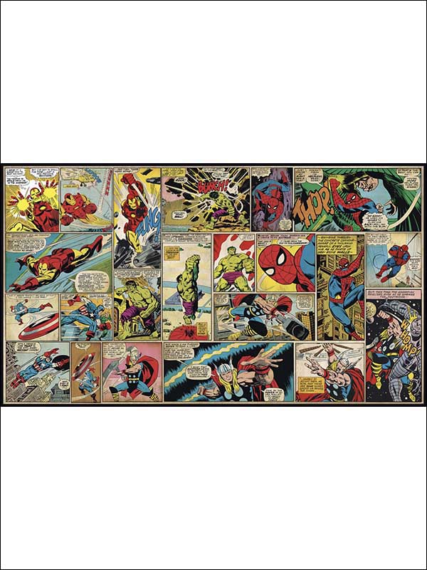 Marvel Comic Panel XL 7 Panel Mural JL1398M by York Wallpaper for sale at Wallpapers To Go