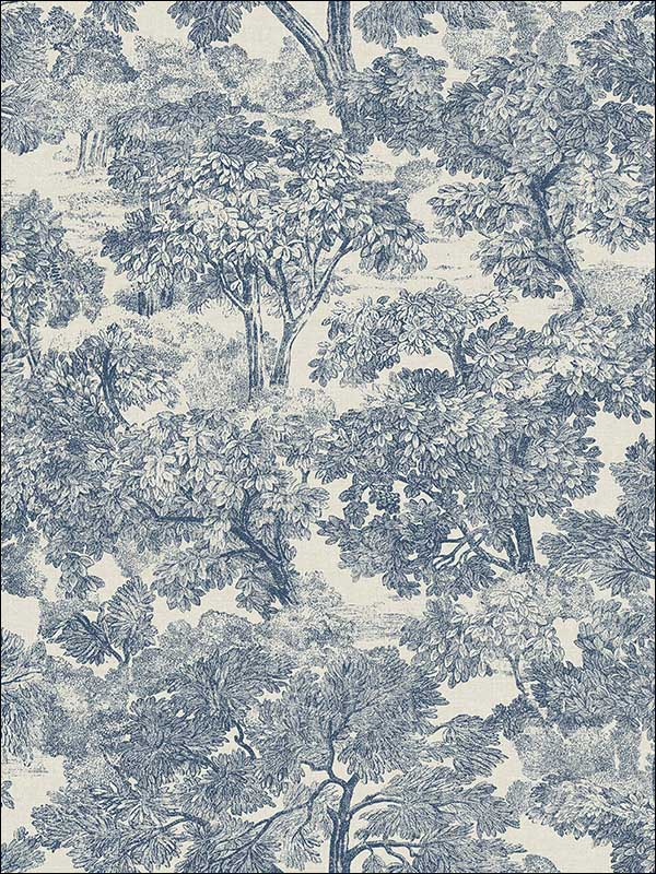 Blyth Blue Toile Wallpaper 3112002724 by Chesapeake Wallpaper for sale at Wallpapers To Go