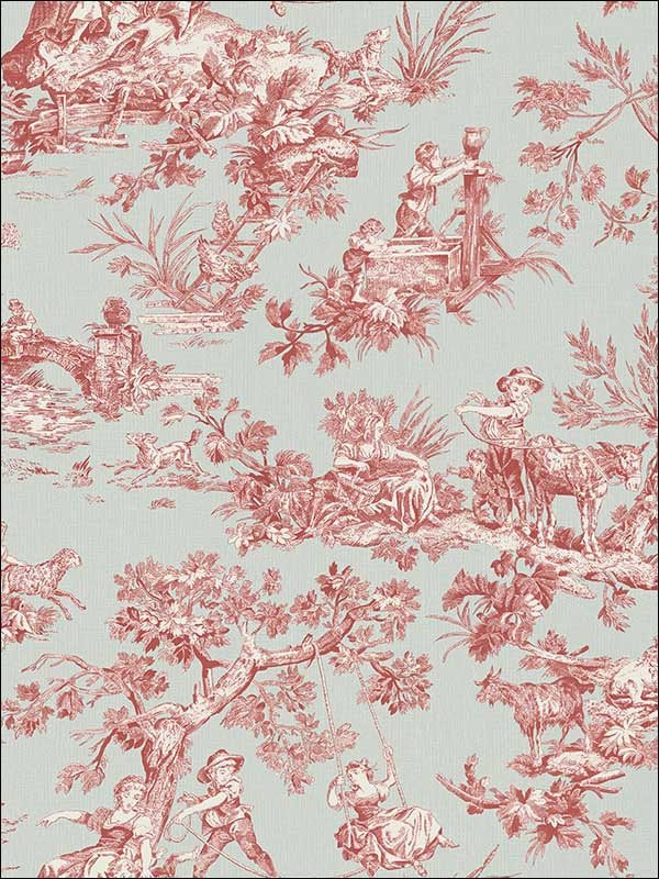 Whitney Turquoise Toile Wallpaper 3112002777 by Chesapeake Wallpaper for sale at Wallpapers To Go