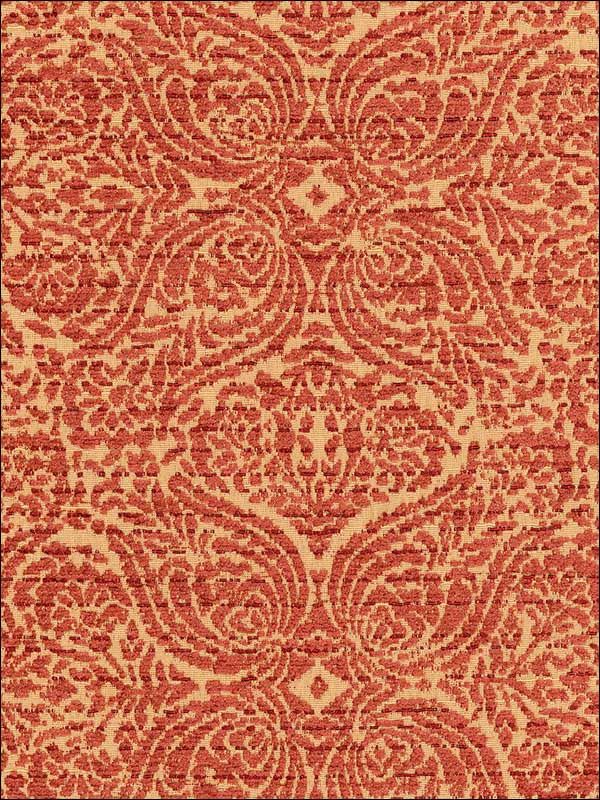 San Marco Chenille Terracotta Fabric 62333 by Schumacher Fabrics for sale at Wallpapers To Go