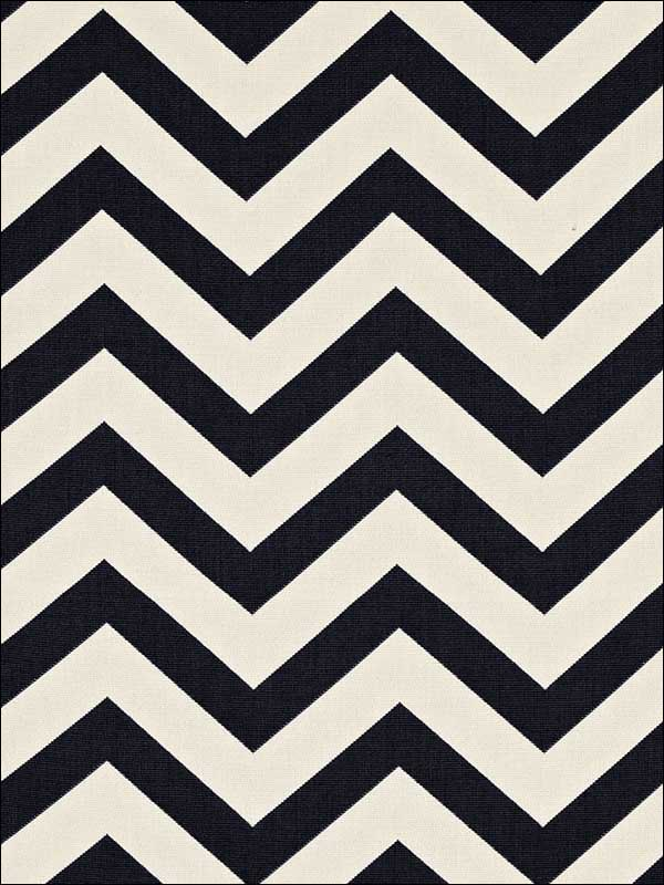 Antibes Chevron Jet Fabric 65923 by Schumacher Fabrics for sale at Wallpapers To Go
