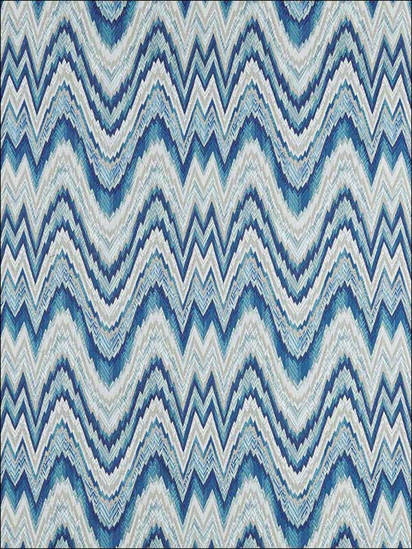 Valkyrie Flame Stitch Delft Fabric 68940 by Schumacher Fabrics for sale at Wallpapers To Go