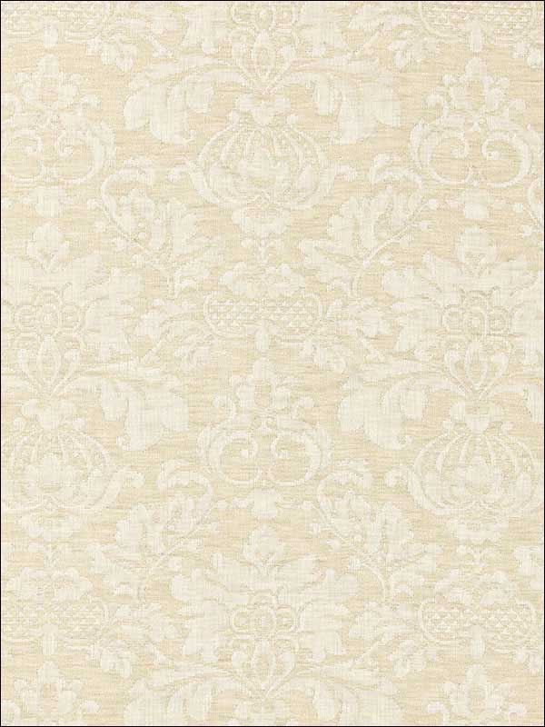 Montisi Linen Damask Buttermilk Fabric 66621 by Schumacher Fabrics for sale at Wallpapers To Go
