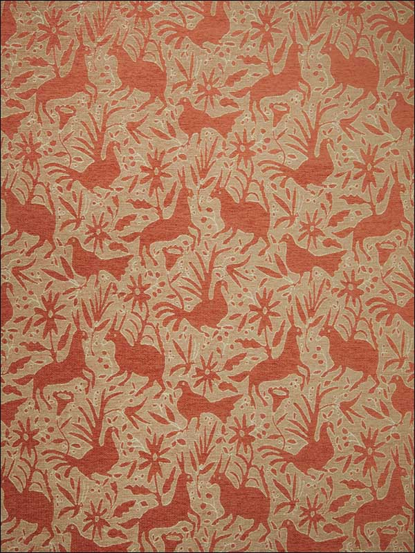 Otomi Tangerine Fabric 5034704 by Vervain Fabrics for sale at Wallpapers To Go