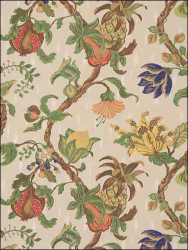Bellary Vine Eggshell Fabric 520402 by Vervain Fabrics for sale at Wallpapers To Go