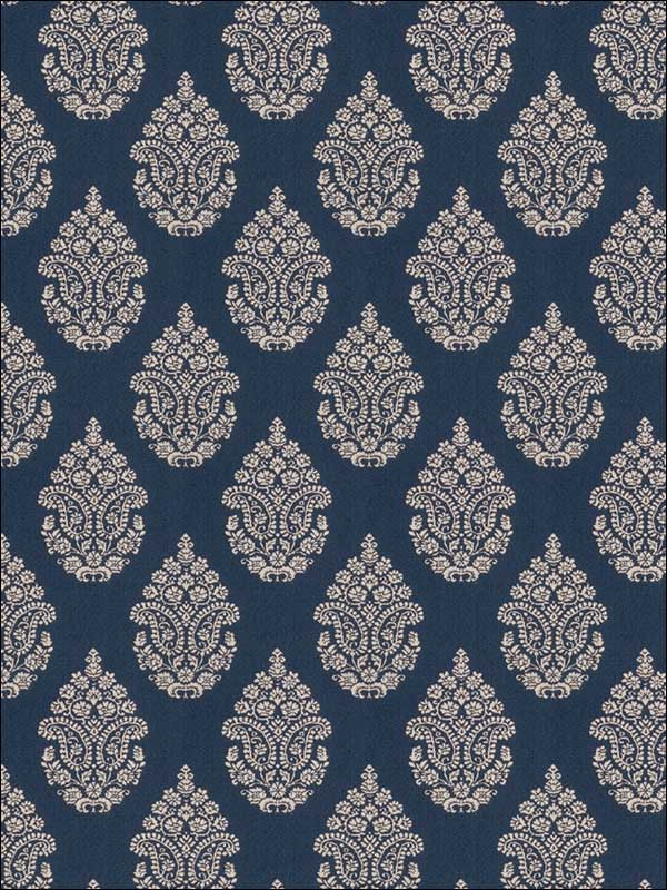 Calabash Cobalt Fabric 149601 by Fabricut Fabrics for sale at Wallpapers To Go