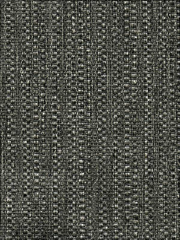 Biwa Black Vertical Weave Wallpaper 27588040 by Warner Wallpaper for sale at Wallpapers To Go
