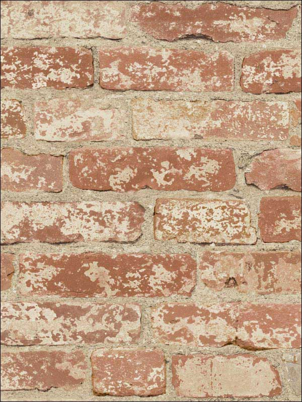 Stuccoed Red Brick Peel and Stick Wallpaper RMK9035WP by York Wallpaper for sale at Wallpapers To Go
