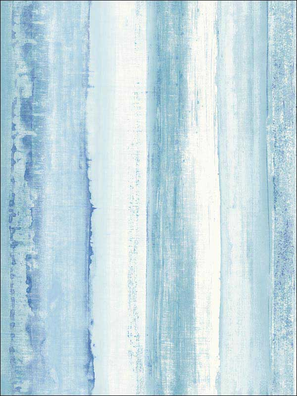 Blue Watercolor Stripe Peel And Stick Wallpaper RMK9061WP by York Wallpaper for sale at Wallpapers To Go