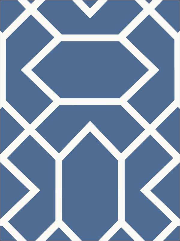 Blue Modern Geometric Peel And Stick Wallpaper Rmk9066wp By York Wallpaper