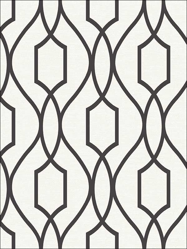 Evelyn Black Trellis Wallpaper 280987711 by Advantage Wallpaper for sale at Wallpapers To Go