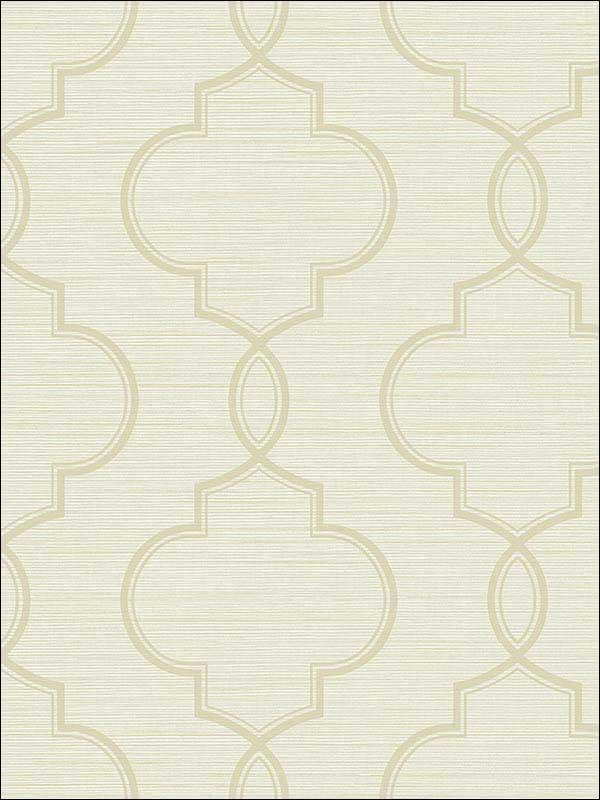 Malo Cream Sisal Ogee Wallpaper 2765BW40505 by Kenneth James Wallpaper for sale at Wallpapers To Go